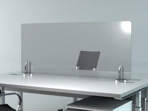 ウィルスや細菌などの飛沫感染を防ぐオフィス用のデスクパーテション